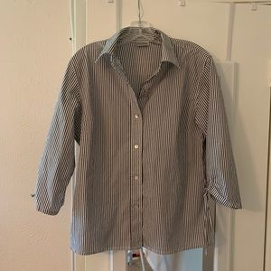 Classy Chico's Striped Button Down Blouse